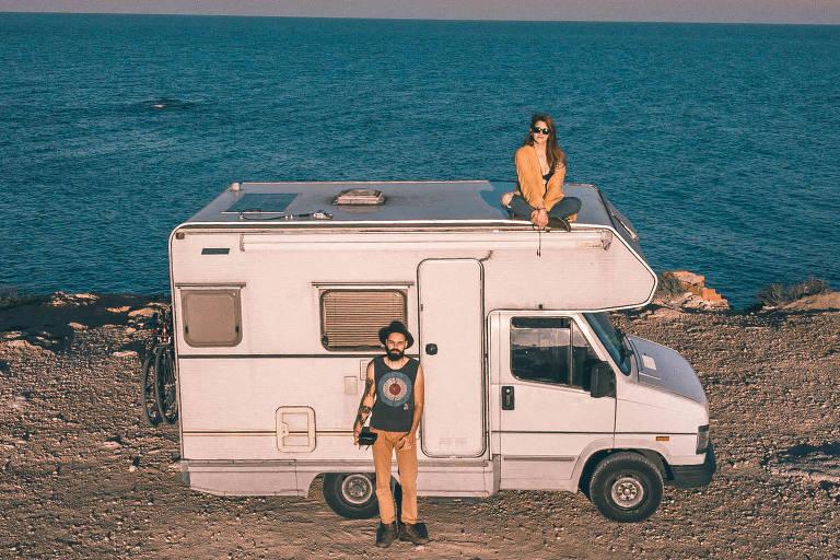 Lucas, Eve e Rogerinho, o motorhome de 1992